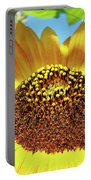 Sunflower Art Prints Orange Yellow Floral Garden Baslee Troutman Portable Battery Charger