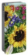 Sunflower Bouquet Portable Battery Charger