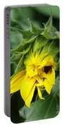 Sunflower Bud Portable Battery Charger