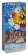 Sunflower Cat Portable Battery Charger