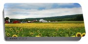 Sunflower Country Landscape  Portable Battery Charger