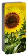Sunflower Crops On A Farm In South Dakota Portable Battery Charger
