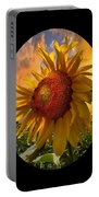 Sunflower Dawn In Oval Portable Battery Charger