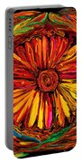 Sunflower Emblem Portable Battery Charger