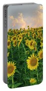 Sunflower Faces At Sunset Portable Battery Charger