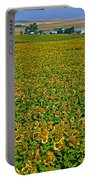Sunflower Farm In Northwest North Dakota  Portable Battery Charger