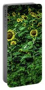 Sunflower Field Panorama Portable Battery Charger