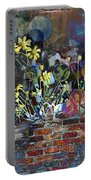 Sunflower Graffiti Portable Battery Charger