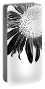 Sunflower In Corner Bw Threshold Portable Battery Charger