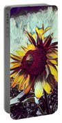 Sunflower In Deep Tones Portable Battery Charger