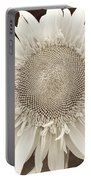 Sunflower In Soft Sepia Portable Battery Charger