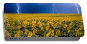 Sunflower Lightning Field  Portable Battery Charger