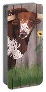 Sunflower Longhorn Portable Battery Charger