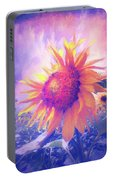 Sunflower Oil Painting Portable Battery Charger