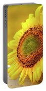 Sunflower On The Fence Portable Battery Charger