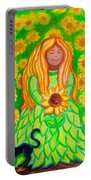 Sunflower Princess Portable Battery Charger