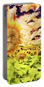 Sunflower Storm Portable Battery Charger