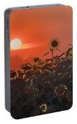 Sunflower Sundown Portable Battery Charger