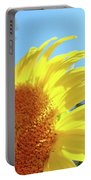Sunflower Sunlit Art Print Canvas Sun Flowers Baslee Troutman Portable Battery Charger