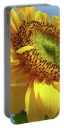 Sunflower Sunlit Sun Flowers 6 Blue Sky Giclee Art Prints Baslee Troutman Portable Battery Charger