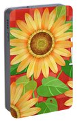 Sunflower Surprise Portable Battery Charger