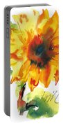 Sunflower With Blues Portable Battery Charger
