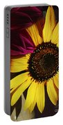 Sunflower With Dahlia Portable Battery Charger