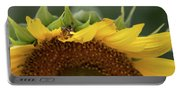 Sunflower With Grasshopper Portable Battery Charger