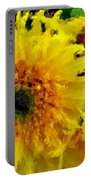 Sunflowers - Light And Dark Portable Battery Charger