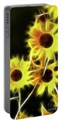 Sunflowers-4955-fractal Portable Battery Charger