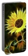 Sunflowers-5200-fractal Portable Battery Charger