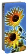 Sunflowers-5246-fractal Portable Battery Charger