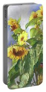 Sunflowers After The Rain Portable Battery Charger
