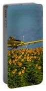 Sunflowers And Crop Duster Portable Battery Charger
