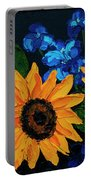Sunflowers And Delphinium Portable Battery Charger