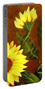 Sunflowers And Dewdrops Portable Battery Charger