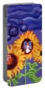 Sunflowers And Faeries Portable Battery Charger