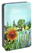 Sunflowers And Jaybird Portable Battery Charger