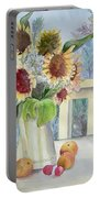 Sunflowers And Peaches Portable Battery Charger