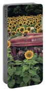 Sunflowers And Tractor Portable Battery Charger