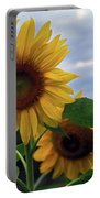 Sunflowers Close Up Portable Battery Charger