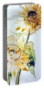 Sunflowers II Portable Battery Charger by Monique Faella