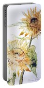 Sunflowers II Uncropped Portable Battery Charger by Monique Faella