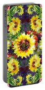 Sunflowers Impressionism Pattern Portable Battery Charger