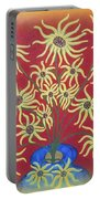Sunflowers In A Blue Vase Portable Battery Charger