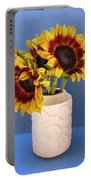 Sunflowers In Circle Vase Tournesols Portable Battery Charger