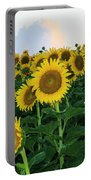 Sunflowers In The Clouds Portable Battery Charger