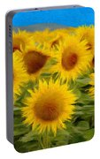 Sunflowers In The Field Portable Battery Charger