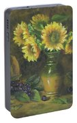 Sunflowers Portable Battery Charger