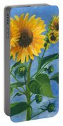 Sunflowers On Bauer Farm Portable Battery Charger